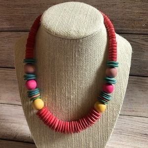 Colorful thick necklace